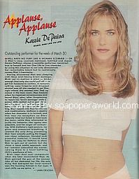 Applause, Applause for Kassie DePaiva (Blair on One Life To Live)