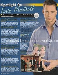 Spotlight On Eric Martsolf (Ethan on Passions)