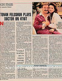 Scene Stealers with Tovah Feldshuh on As The World Turns