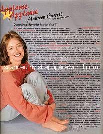 Applause, Applause for Maureen Garrett (Holly Reade on Guiding Light)