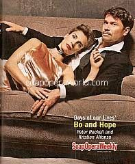 Free Pullout Centerfold Poster featuring Peter Reckell & Kristian Alfonso (Bo & Hope on Days Of Our Lives)