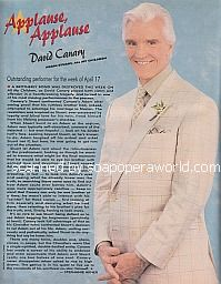 Applause, Applause for David Canary (Adam/Stuart on All My Children)