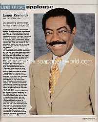 Applause, Applause for James Reynolds (Abe Carver on Days Of Our Lives)