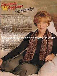 Applause, Applause for Elizabeth Hubbard of ATWT