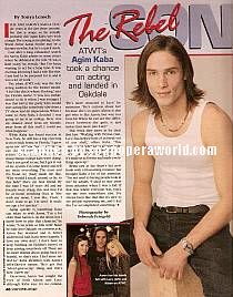 Agim Kaba played the role of Aaron Snyder on ATWT