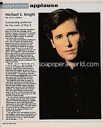 Applause, Applause for Michael E. Knight (Tad on All My Children)