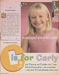 Interview with Carly Schroeder of General Hospital