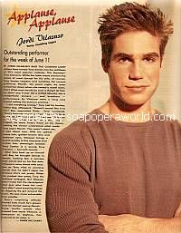Applause, Applause for Jordi Vilasuso (Tony on Guiding Light)