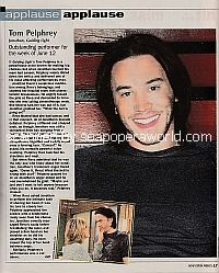 Applause, Applause for Tom Pelphrey of Guiding Light