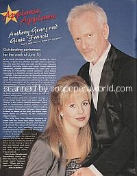 Applause, Applause for Anthony Geary and Genie Francis of General Hospital