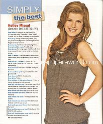 Simply The Best with Kelley Missal (Danielle on One Life To Live)