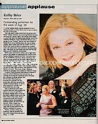 Applause, Applause for Kathy Brier (Marcie on One Life To Live)