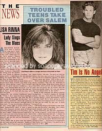 Interviews with Days Of Our Lives newcomers, Lisa Rinna & Brian Heiduk