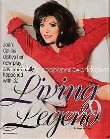 Interview with television legend, Joan Collins