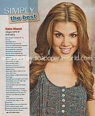 Simply The Best with Kate Mansi (Abigail on Days Of Our Lives)